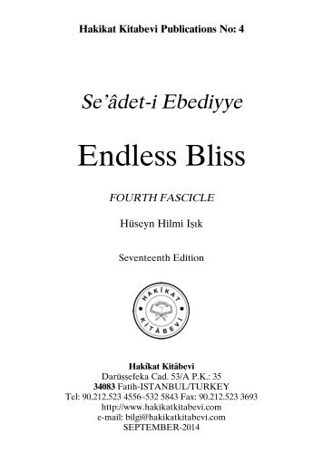 Seadet-i Ebediyye - Endless Bliss Fourth Fascicle