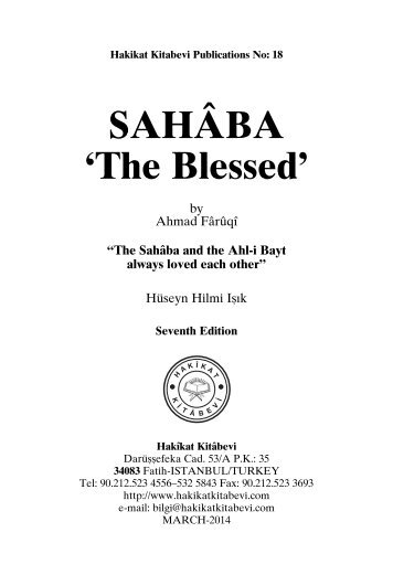 Sahaba - The Blessed