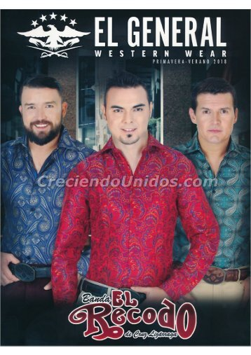 #633 Catalogo El General Original Western Wear Primavera Verano 2018