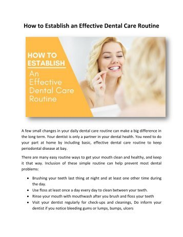 How to Establish an Effective Dental Care Routine