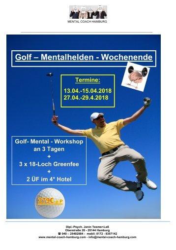 GOLF-Mentaltrainings-Wochenende zur Saisonvorbereitung  4 / 2018