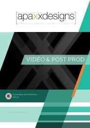 Catalogue vidéo Apaxxdesigns  2018