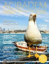 SAYI:63 ACIBADEM Yaşam ve Kent Kültürü Dergisi
