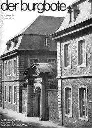 Der Burgbote 1974 (Jahrgang 54)