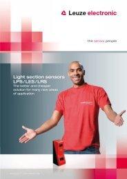 Light section sensors LPS / LES / LRS - Leuze electronic