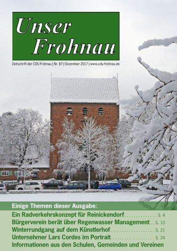 Unser Frohnau 87 (Dezember 2017)