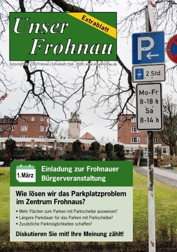 Unser Frohnau 87 Sonderausgabe Parkplatzproblem