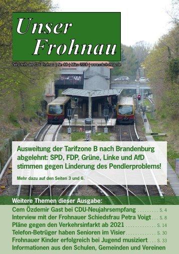 Unser Frohnau 88 (März 2018)