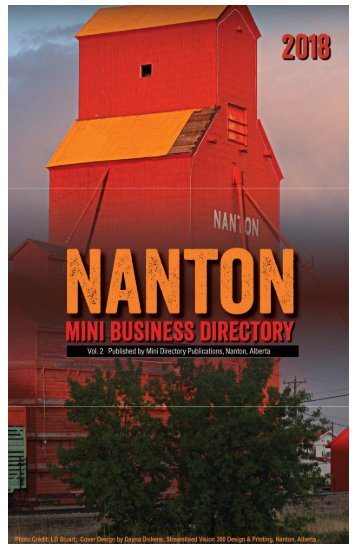 2018 Nanton Mini Business Directory web publication