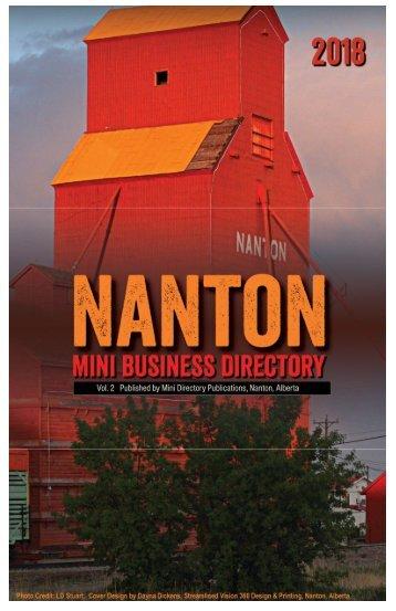 2018 Nanton Mini Business Directory web publication