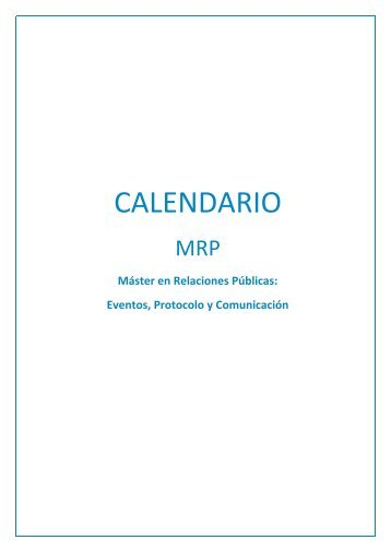 CALENDARIO MRP Enero 2018