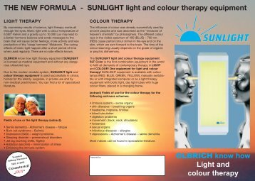 OLBRICH know how Light and colour therapy THE NEW FORMULA ...