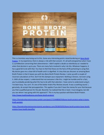 Bone Broth Protein - Review