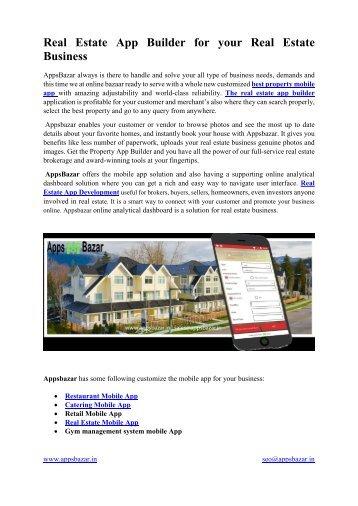 Real Estate App Builder for your Real Estate Business