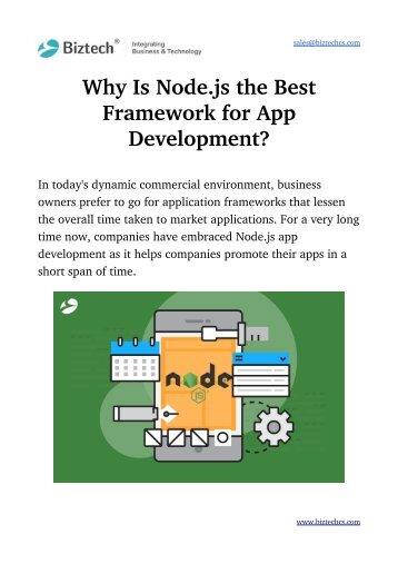 Why is Node.js the Best Framework?