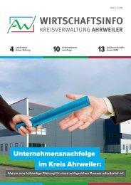 AW-Wirtschaftsinfo März 2018 - Unternehmensnachfolge im Kreis Ahrweiler