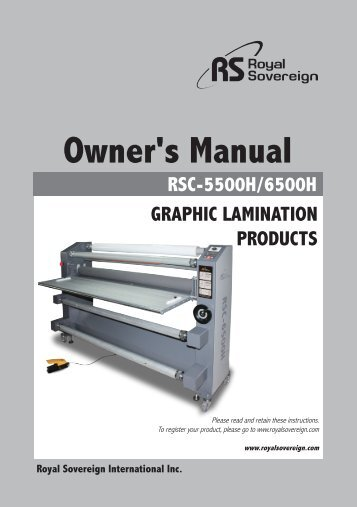 Royal Sovereign RSC-5500H Heat Assist Roll Laminator Machine - PrintFinish.com