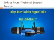 Dial 1-800-335-8177 Linksys Router Technical Support Number