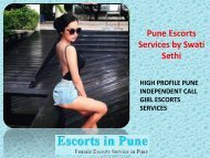 Pune Escorts Services www.swatisethi.com Call Girl in Pune