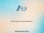House Cleaner in Across Melbourne