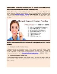 Hotmail support phone 1-888-664-3555 number