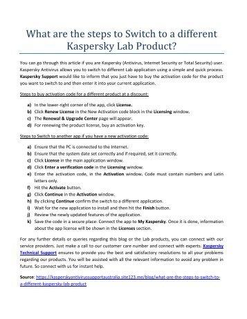 Kaspersky antivirussupportaustralia com Magazines