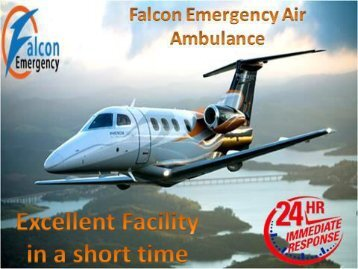 Medical Emergency Air Ambulance Service in Ranchi and Raipur at Low Fare