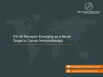 OX-40 Receptor Emerging