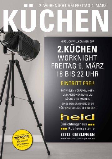 Held Prospekt Küchen-Worknight 2018