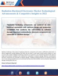 Radiation-Hardened Electronics Market Technological Advancements & Competitive Insights to 2022