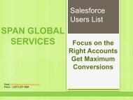 Salesforce CRM Users List
