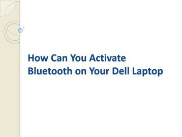 How Can You Activate Bluetooth on Your Dell Laptop