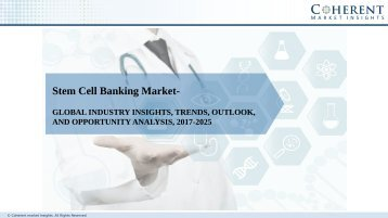 Stem Cell Banking Market to Surpass US$ 7.7 Billion by 2025