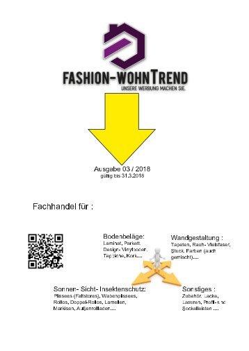 Fashion WohnTrend Ausgabe 03-2018