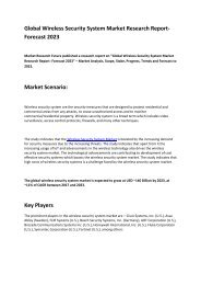 Wireless Security System Market Share, Trend, Segmentation and Forecast 2023