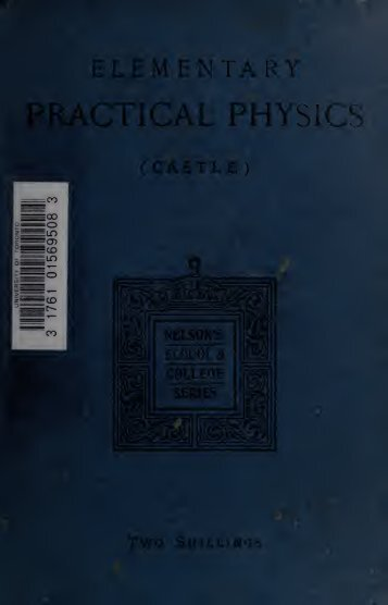 Elementary practical physics