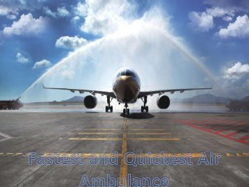Hire More Reliable Cost Air Ambulance Service in Chennai