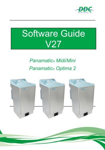 Software Guide V27 - Panamatic Mini, Midi, Optima 2 v1.6