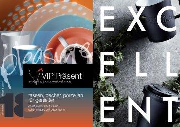 VIP-Katalog Tassen, Becher, Porzellan für Genießer