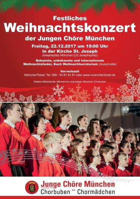 Flyer Weihnachtskonzert 2017 - Junge Chöre München