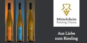 """Broschüre """"Aus Liebe zum Riesling"""" der Mittelrhein Riesling Charta"""