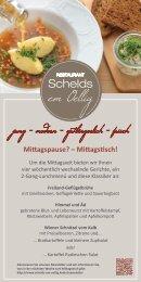 Mittagspause? Mittagstisch! im Restaurant Schelds em Oellig in Köln