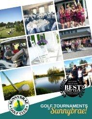 2018 Sunnybrae Golf Club Tournament flyer