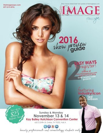 IMAGE Show Preview Guide Dallas 2016