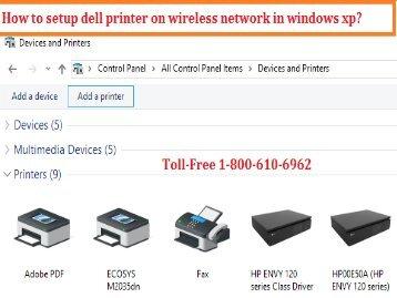 setup dell printer on wireless network in windows xp