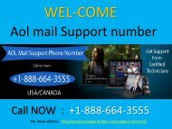 Get round the clock assistance of experts by Call +1-888-664-3555 Aol Mail Customer Service Number?