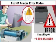 Fix hp printer error codes