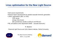 Linac optimisation for the New Light Source - Desy