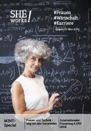 SHE works! - MINT-Special: Frauen und Technik