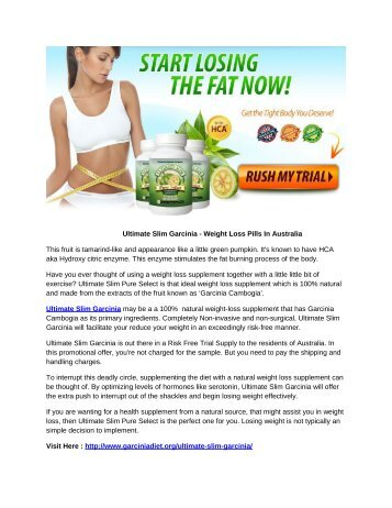 Ultimate Slim Garcinia - Weight Loss Pills In Australia